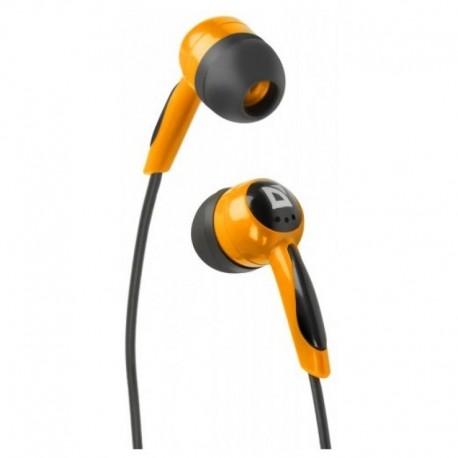 Наушники Defender Basic 604 вставные, 32Ом, 85дБ, кабель 1.2м, Black/Orange