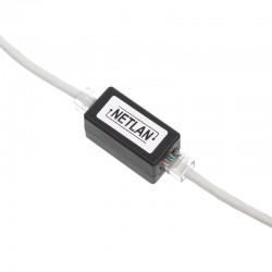 Модуль проходной - - RJ45-RJ45 NETLAN EC-UCB-55-UD2-BK для соединения 2х патч-кордов черный, J213