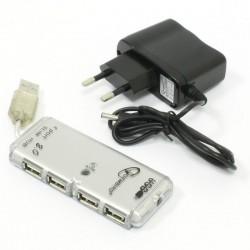 USB Хаб 4xUSB 2.0 GEMBIRD UHB-C244 доп.питание