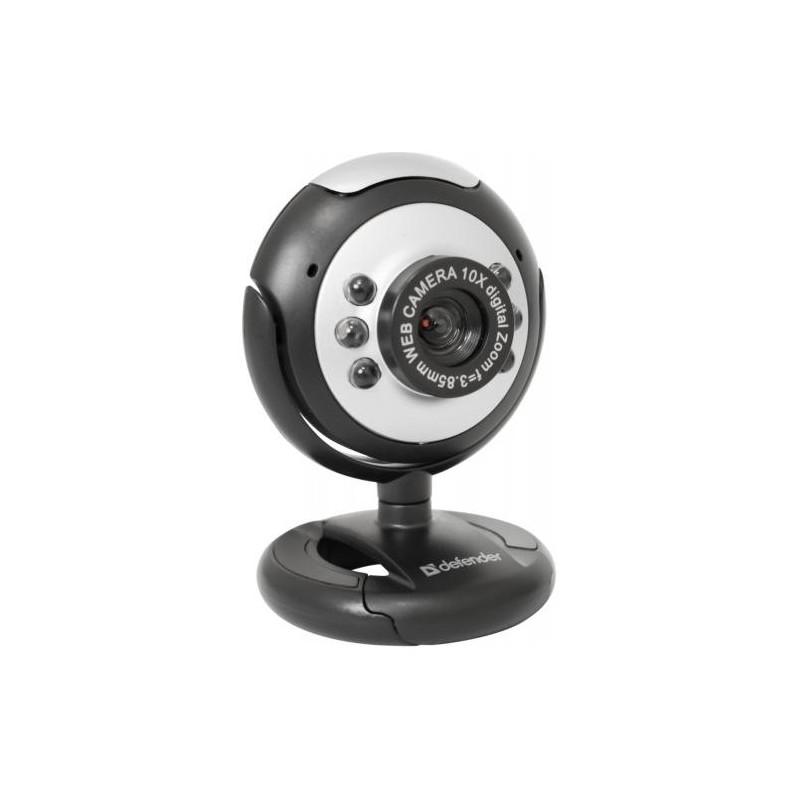 Веб-камера Defender C-110 0.3МП/640*480 микрофон,крепл на монитор,экран ноутбука,ручной фокус