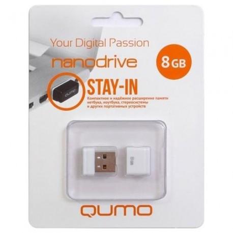 Флешка QUMO Nano Белый 8Gb (USB2.0)