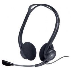 Гарнитура Logitech PC 960 (981-000100) накладные, 32Ом, 65дБ, кабель 2.4м, Black