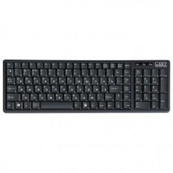 Клавиатура USB CBR KB-103 мембранная, 104 клавиши, Black