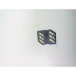 Коннектор SIM Nokia X3-00/N81/N76/620/205/2710/C3-00/N97 mini/X6