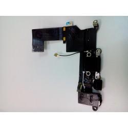Шлейф iPhone 5S на системный разъем/разъем гарнитуры/микрофон Черный