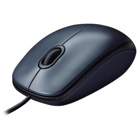 Мышь USB Logitech M100 (910-001604/910-005003) оптическая, 1000dpi, кабель 1.8м, Black/Grey