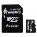 Карта памяти MicroSDXC 128Gb SmartBuy Class10 SD adapter SB128GBSDCL10-01