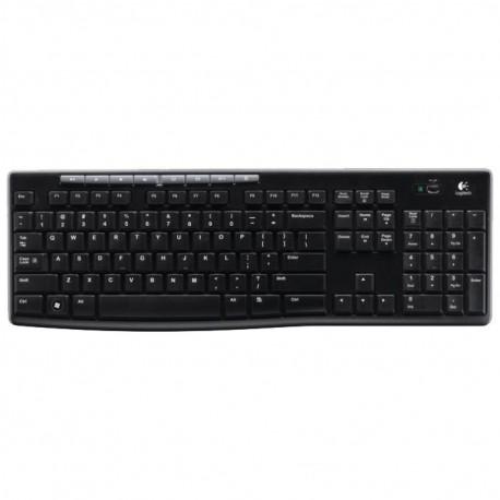 Комплект (клавиатура+мышь) Logitech MK270 (920-004518) радиус действия до 10м,Black беспроводной