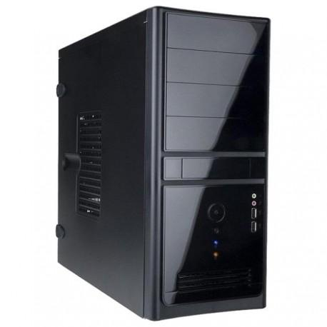 Корпус mATX InWin ENR021BL (USB,Audio,черный,Б/П 400w)