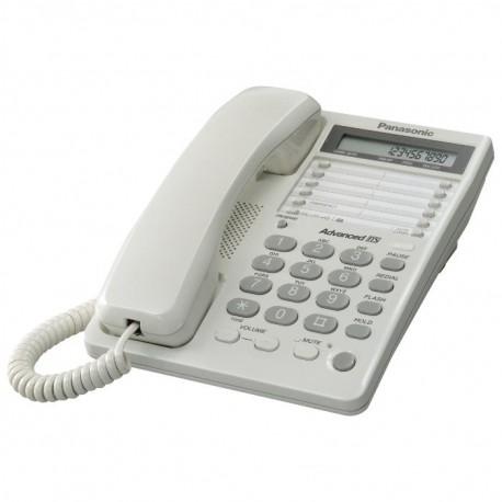 Телефон Panasonic KX-TS2362 RUW (повторн.набор/тон.набор/настен.установка/память-10н/быстр.набор-20кн/блокировка набора номера/отключение микрофона/удержание линии/индикатор вызова/дисплей/часы/разъем гарнитуры)