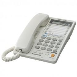 Телефон Panasonic KX-TS2368 RUW (2линии/повторн.набор/тон.набор/настен.установка/быстр.набор-20кн/переадресация/спикерфон/блокировка набора номера/отключение микрофона/удержание линии/дисплей/часы/разъем гарнитуры)