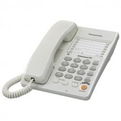 Телефон Panasonic KX-TS2363 RUW (повторн.набор/тон.набор/настен.установка/память-10н/быстр.набор-20кн/спикерфон/блокировка набора номера/отключение микрофона/удержание линии/индикатор вызова/разъем гарнитуры)