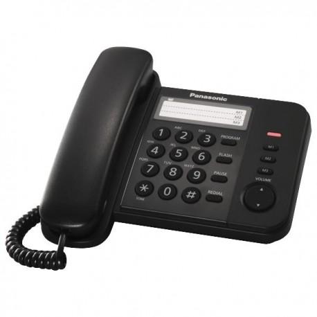 Телефон Panasonic KX-TS2352RUB (повторн.набор/тон.набор/настен.установка/быстр.набор-3кн/индикатор