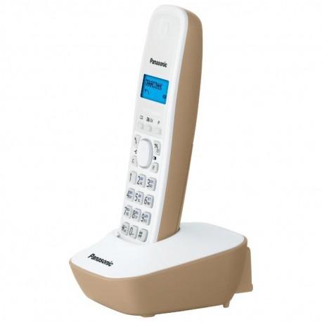 Радиотелефон Panasonic KX-TG1611 RUJ,бежевый 1трубка/50м/300м/АОН/книга 50номеров/-/-/-/15-170ч/550м