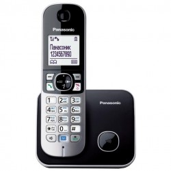 Радиотелефон Panasonic KX-TG6811 RUB,черный 1трубка/50м/300м/АОН/книга 120номеров/спикерфон/-/-/15-170ч/550мАч/Радио-няня