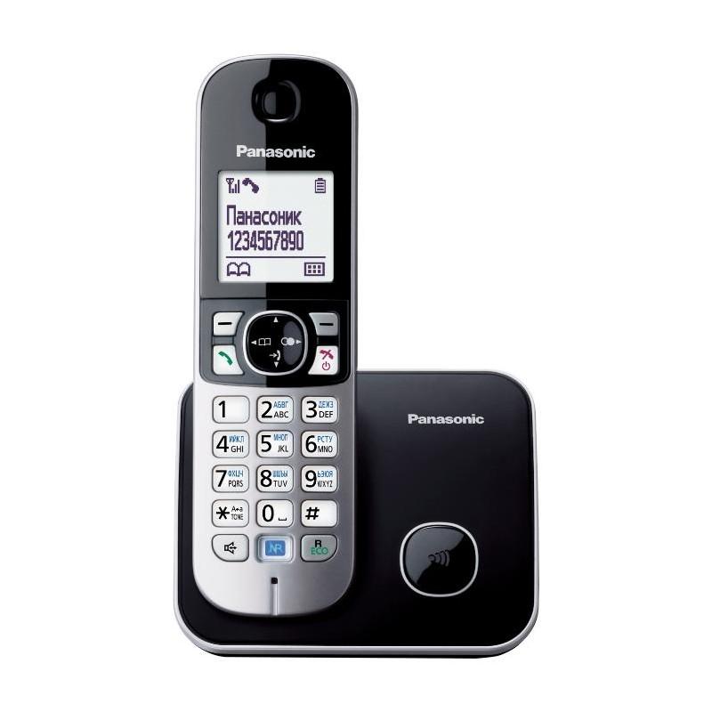 Радиотелефон Panasonic KX-TG6811 RUB,черный 1трубка/50м/300м/АОН/книга 120номеров/спикерфон/-/-/15-1