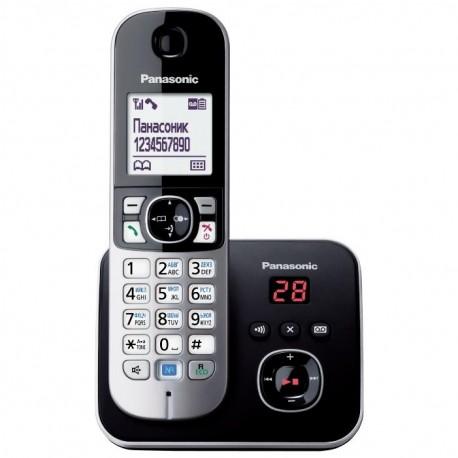 Радиотелефон Panasonic KX-TG6821 RUB,черный 1трубка/50м/300м/АОН/книга 120номеров/спикерфон/автоответчик/-/15-170ч/800мАч/Радио-няня