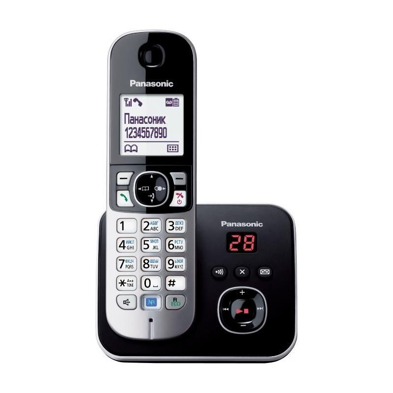 Радиотелефон Panasonic KX-TG6821 RUB,черный 1трубка/50м/300м/АОН/книга 120номеров/спикерфон/автоотве