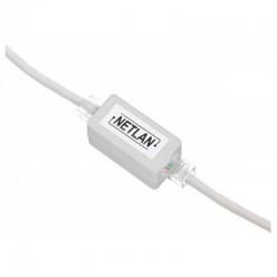 Модуль проходной - - RJ45-RJ45 NETLAN EC-UCB-55-UD2-WT для соединения 2х патч-кордов белый, J217