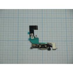 Шлейф iPhone 5S на системный разъем/разъем гарнитуры/микрофон белый