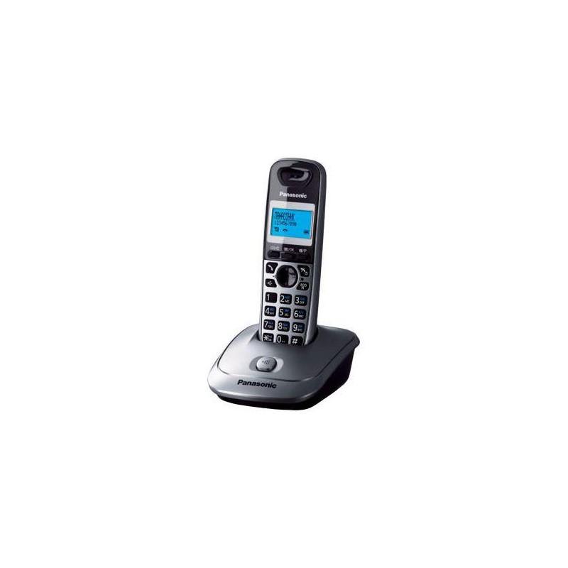 Радиотелефон Panasonic KX-TG2511 RUM,серый металлик 1трубка/50м/300м/АОН/книга 50номеров/спикерфон/-