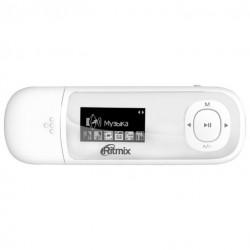 "MP3 плеер RITMIX RF-3450 8Gb Белый (1"",FM,диктофон,MP3,WMA,WAV,MicroSDHC до 16Gb,до 10ч,клипса)"