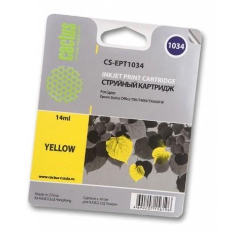 Картридж струйный Cactus CS-EPT1034 для Epson Stylus Office T40/T40w/TX510/TX510fn/TX600/TX60 Yellow
