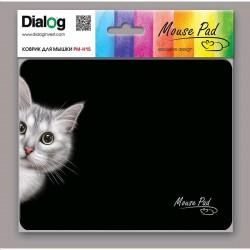 Коврик для мыши Dialog PM-H15 Cat тканевый (220х180х4) Black
