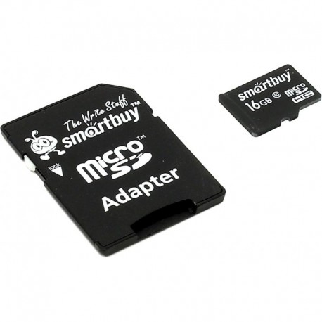 Карта памяти MicroSDHC 16Gb SmartBuy Class10 SD adapter SB16GBSDCL10-01