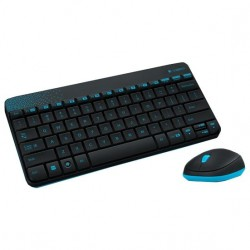 Комплект (клавиатура+мышь) Logitech MK240 (920-005790/920-008213) мини,радиус действия до 10м,Black беспроводной
