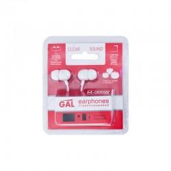 Наушники GAL M-005W-F вставные, 32Ом, 94дБ, кабель 1.2м, White