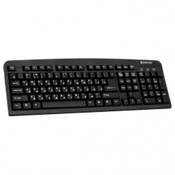 Клавиатура USB Defender Element HB-520Bl мембранная, 107 клавиш, Black