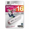 Флеш-накопитель USB2.0 16Gb Silicon Power Lux Mini 320 Белый SP016GBUF2320V1W