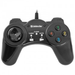 Геймпад Defender Vortex 13 кнопок, проводной для ПК, Black