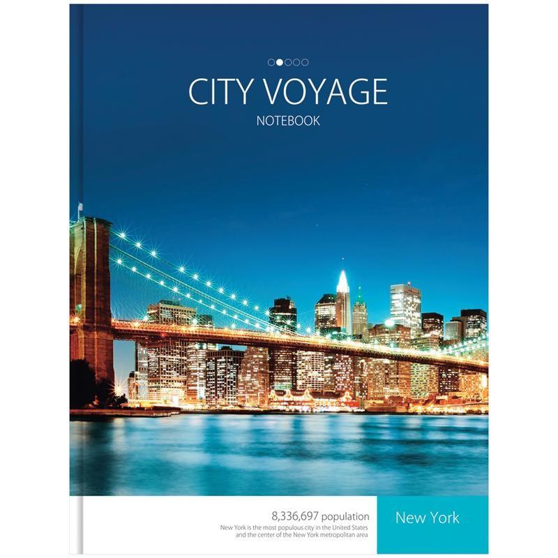 "Бизнес-блокнот OfficeSpace А4 160л. ""Города. City voyage"" (ББ4т160ц 7516)"