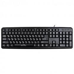 Клавиатура PS/2 Oklick 180M мембранная, 104 клавиши, Black