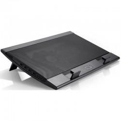 "Охлаждение для ноутбука до 17.3"" DEEPCOOL WIND PAL FS 17"" Black 2*USB,Fan-control"