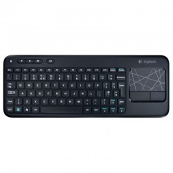 Клавиатура беспроводная Logitech K400 Plus (920-007147) мембранная, 87 клавиш, до 10м, тачпад, Black