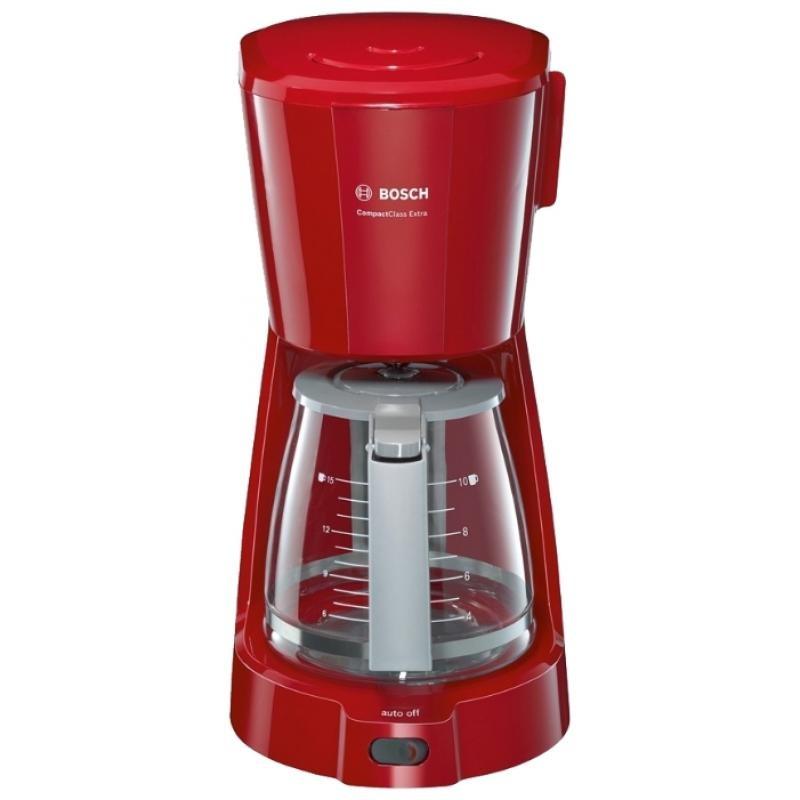 Кофеварка Bosch TKA 3A034 Red 1100Вт, 1.25л, капельная, тип кофе: молотый