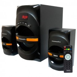 Актив.колонки 2.1 Dialog Progressive AP-210B 60Вт, Bluetooth, USB/SD, питание от сети, MDF, Black