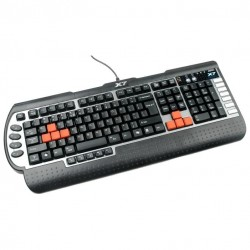 Игровая клавиатура USB A4Tech X7-G800V мембранная, 104+22 клавиши, Black