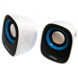 Актив.колонки 2.0 Dialog Colibri AC-06UP 6Вт, питание от USB, пластик, Black/White