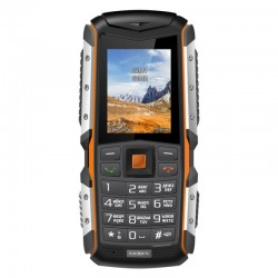 "Сотовый телефон Texet TM-513R Black/Orange (2sim/2""/176*220/-/microSD/2Мп/Bt/2570мАч/водозащита,ударопрочн)"