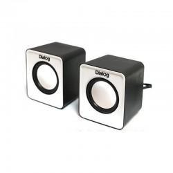 Актив.колонки 2.0 Dialog Colibri AC-02UP 6Вт, питание от USB, пластик, Black/White
