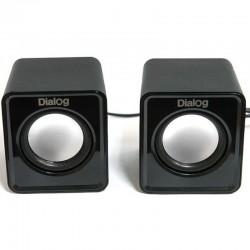 Актив.колонки 2.0 Dialog Colibri AC-02UP 6Вт, питание от USB, пластик, Black