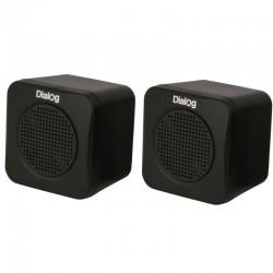 Актив.колонки 2.0 Dialog Colibri AC-01UP 1Вт, питание от USB, пластик, Black