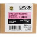 Картридж струйный Epson T580B C13T580B00 для Stylus Pro 3880 Vivid Light Magenta  (80ml)