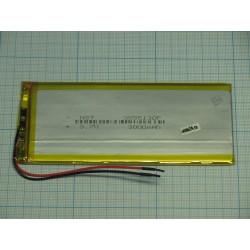 АКБ для  планшетов универсальный Li-Pol 3,5x55x130мм 3,7v 3000mAh