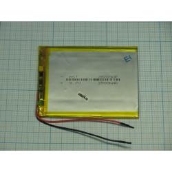 АКБ для  планшетов универсальный Li-Pol 3,5x70x90мм 3,7v 2500mAh