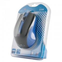 Мышь USB Oklick 225M оптическая, 1200dpi, кабель 1.3м, Black/Blue